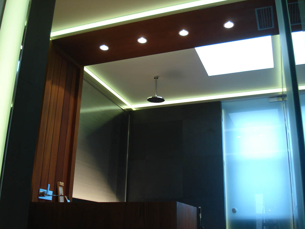 Private Gym Bathroom   Residential lighting   The Light Lab