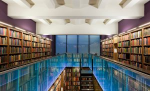 The London Library | edge lit heat tempered glass | The Light Lab