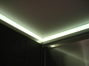 Private Gym Bathroom | Residential lighting | The Light Lab