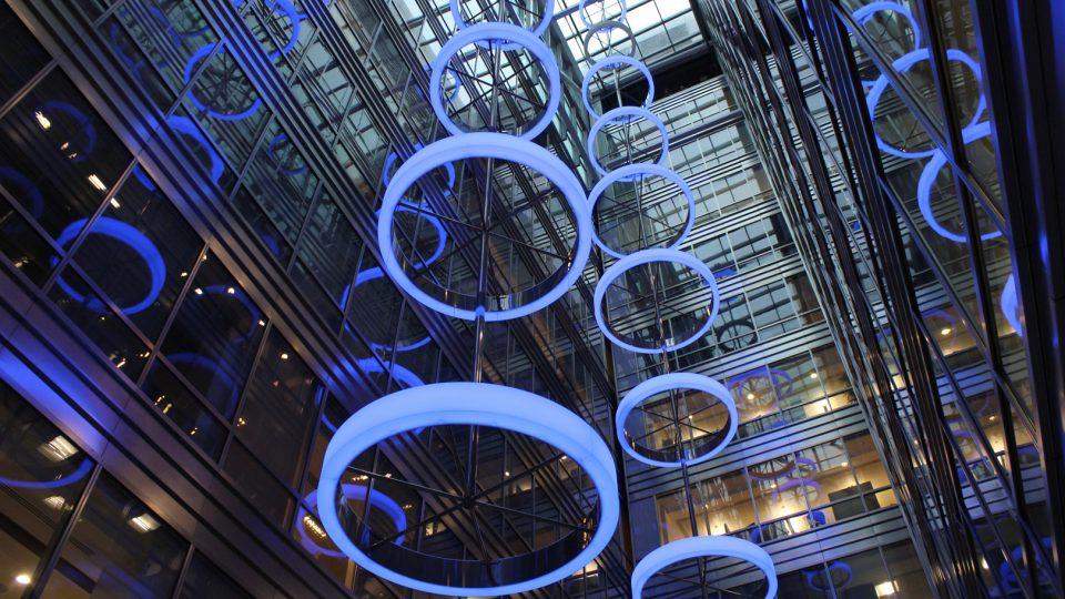 Broadgate Quarter | Bespoke atrium light feature | The Light Lab