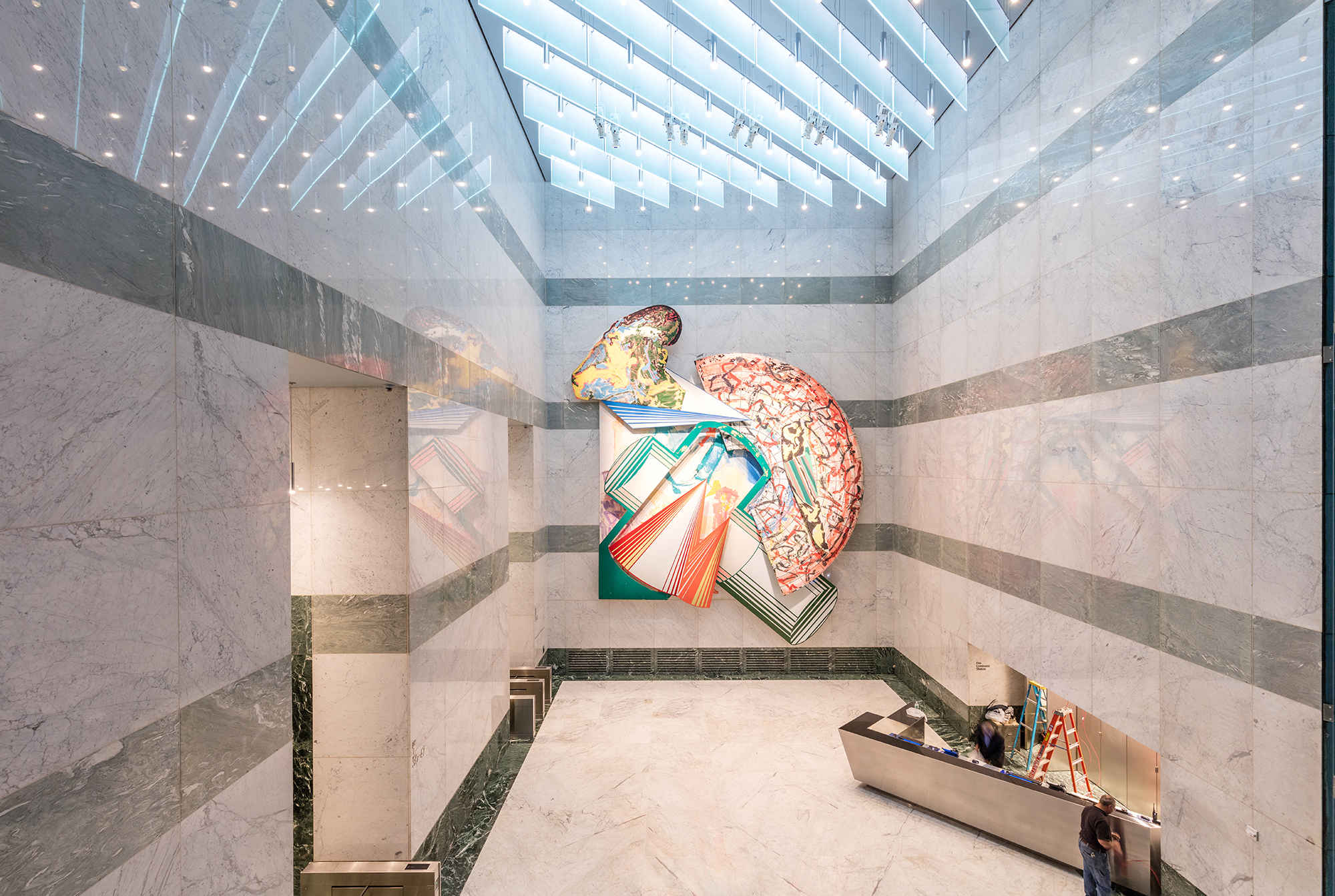 599 Lexington avenue | Bespoke edge lit glass Spectraglass | IALD Award of Excellence | The Light Lab