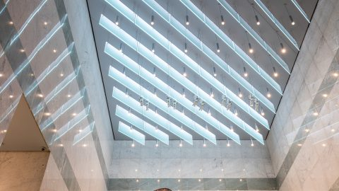 Lexington Avenue, New York | Spectraglass ceiling fins | The Light Lab
