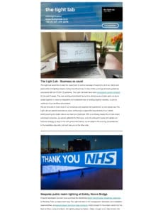 The Light Lab Spring Newsletter 1