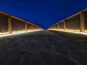 manchester airport bridge glowrail & glowline