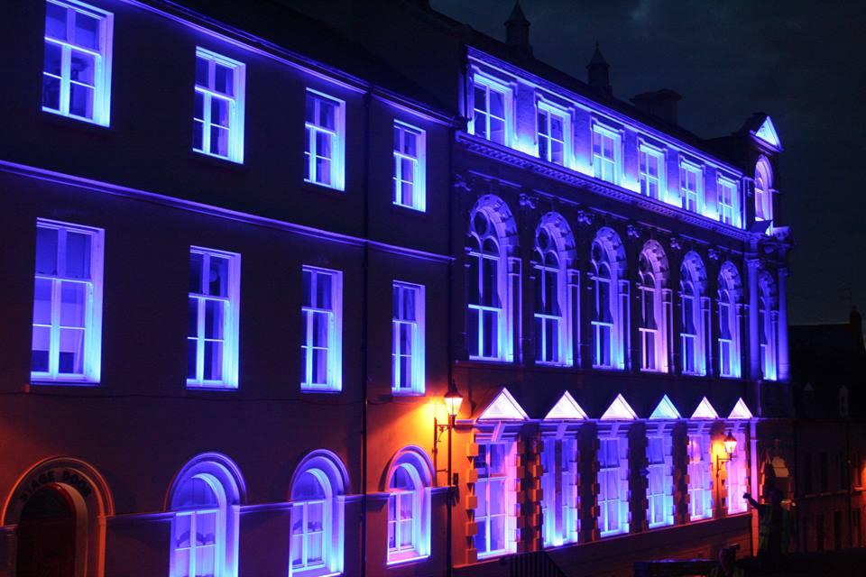 Derry Playhouse | Exterior facade lighting