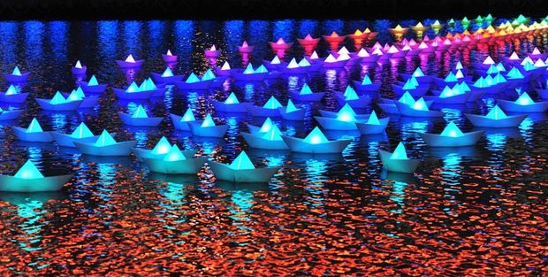 Aether Lighting & Hemera - 'Voyage' Canary Wharf