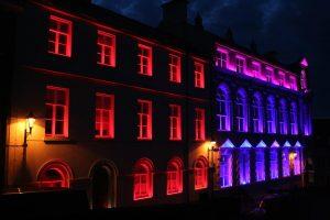 Derry Playhouse   Exterior facade lighting