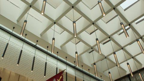 Salter's Hall | Bespoke drop pendants | Commercial office lighting