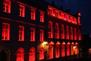 Derry Playhouse | Exterior facade lighting