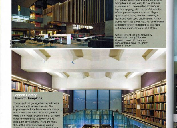 London Library nominated in RIBA AWARDS