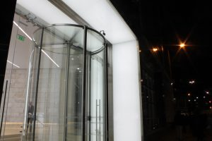 101 Bishopsgate | bespoke entrance portal | The Light Lab