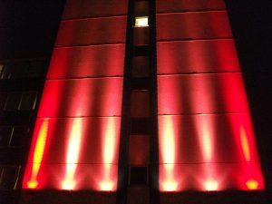 International House, Ashford   Exterior specialist lighting London   The Light Lab