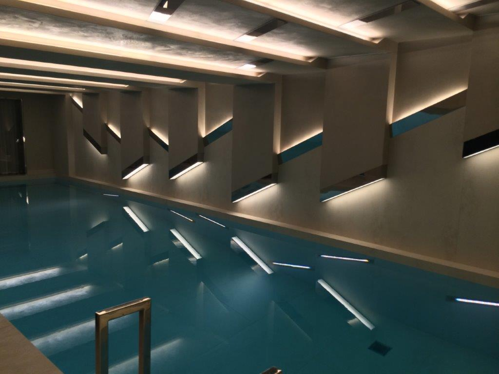 Private residence, swimming pool | Residential lighting | The Light Lab