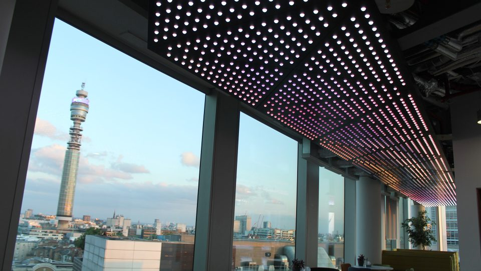 facebook office London | bespoke ceiling feature | the light lab