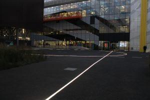 Here East, Stratford | inground glowline | The Light Lab