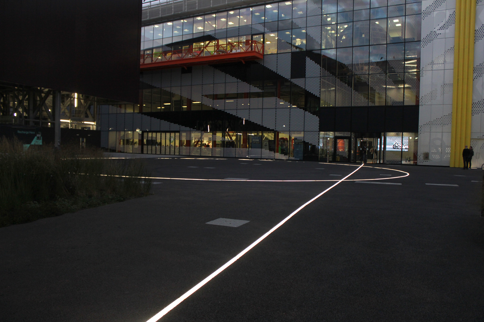 Here East, Stratford | inground glowline | The Light Lab