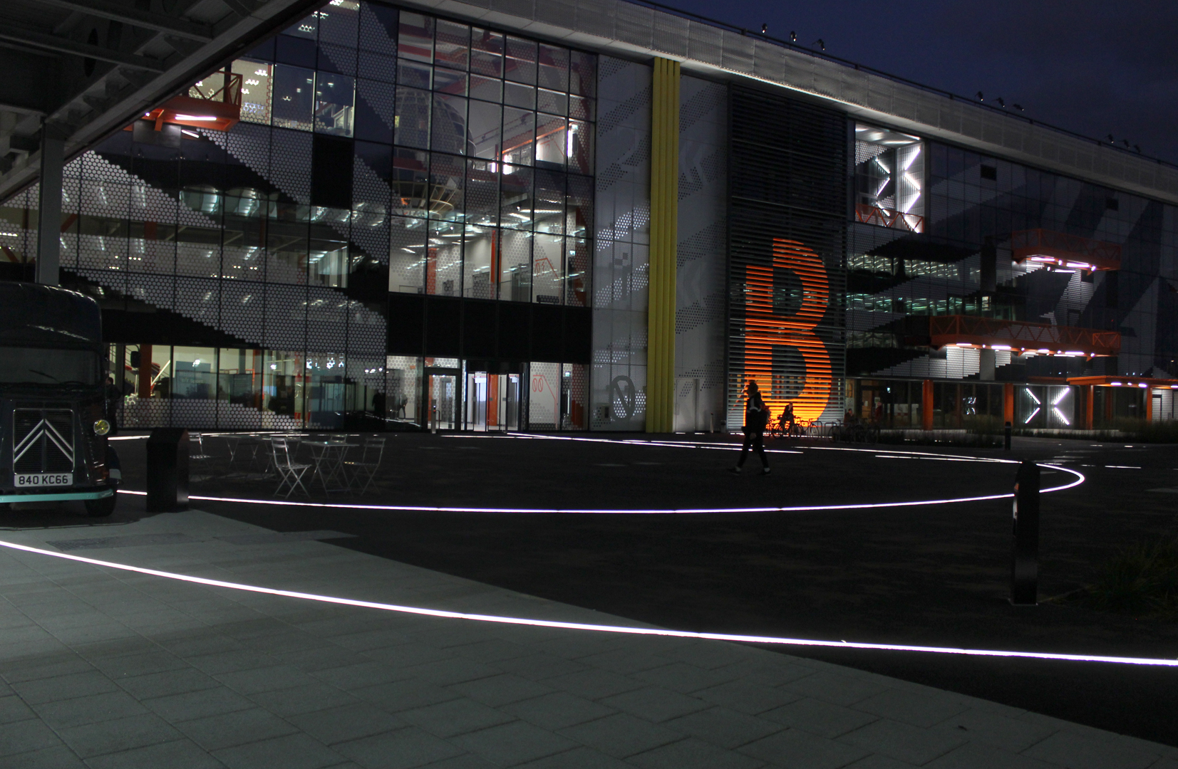 Here East, Stratford | bespoke exterior lighting | The Light Lab