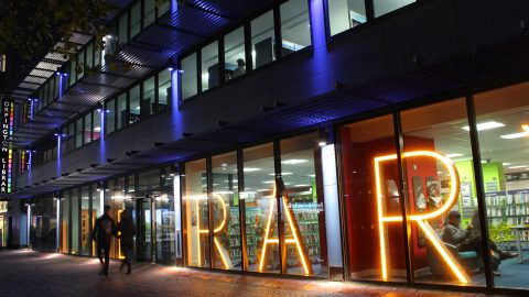 Orpington Library | Bespoke exterior lighting | The Light Lab