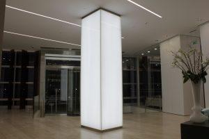 101 Bishopsgate | edge lit panel lighting | The Light Lab
