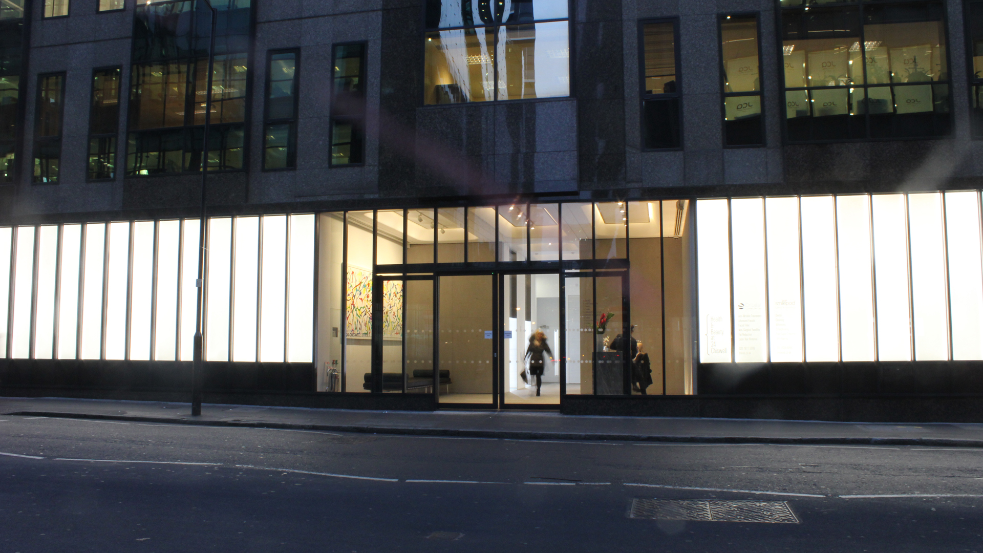 24 Chiswell Street | Bespoke commercial office lighting | The Light Lab