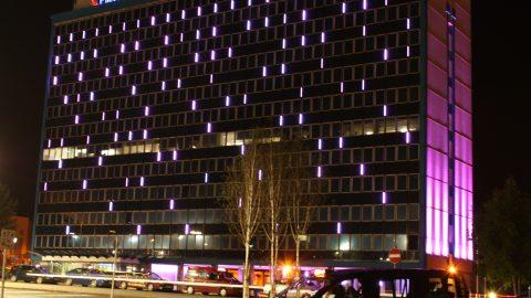 International House Ashford | external glowline | The Light Lab