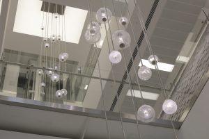 Bespoke Atrium pendants | commercial lighting | The Light Lab
