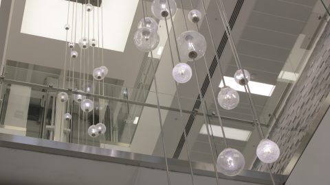 Bespoke Atrium pendants | commercial lighting | The Light Lab