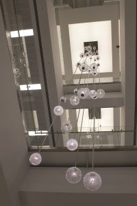 Bespoke Atrium Pendants, London | Bespoke lighting manufacture | The Light Lab