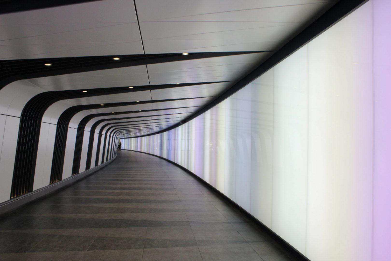 Kings Cross Tunnel Light Wall | specialist lighting installation | The Light Lab