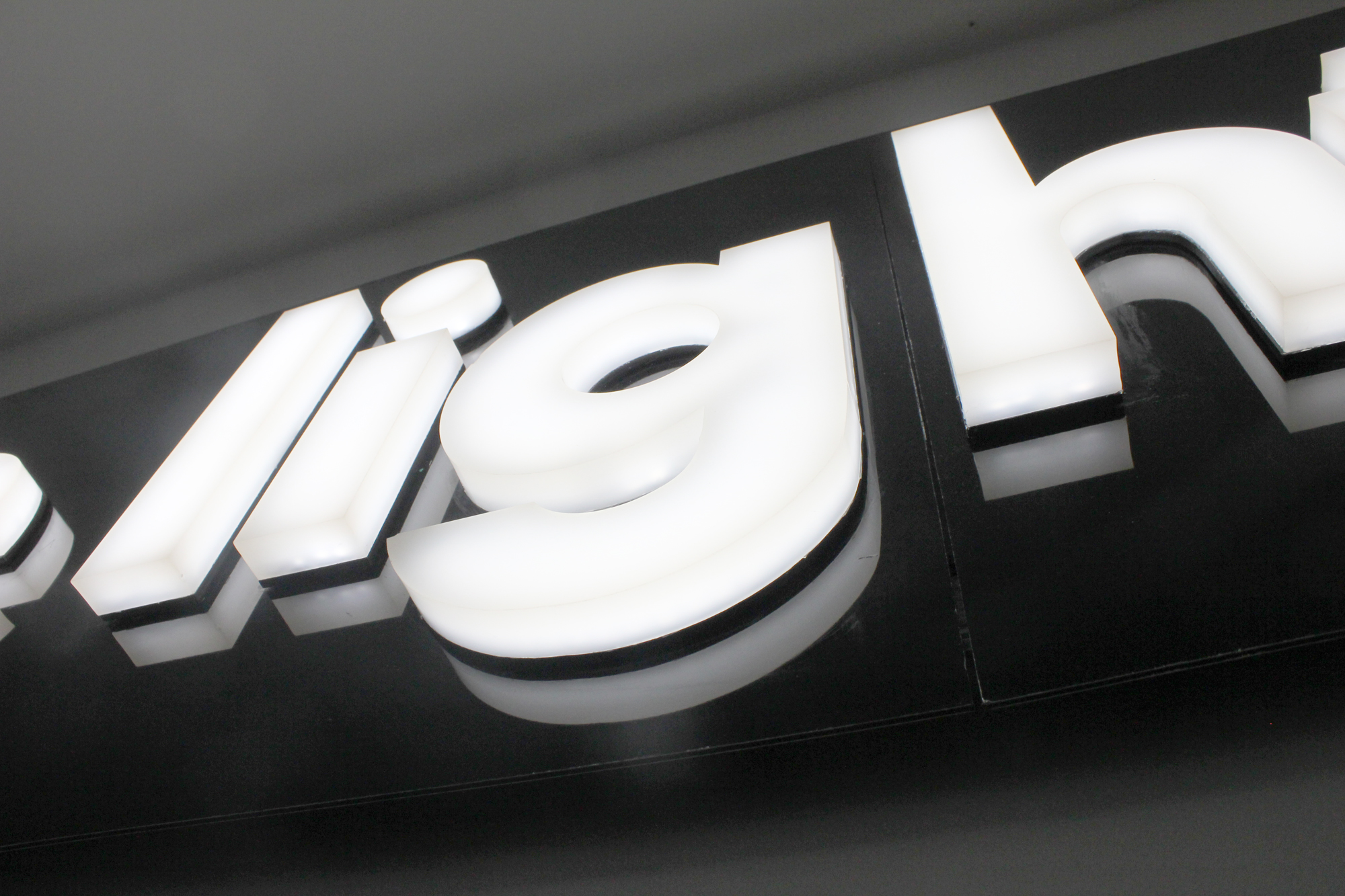 bespoke glowform lettering | specialist lighting design | The Light Lab