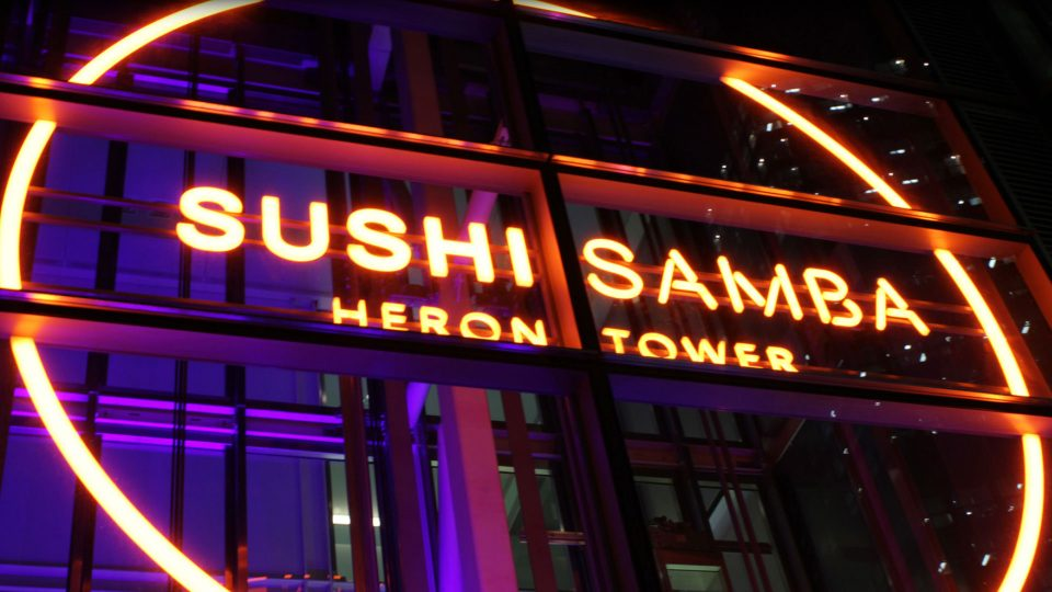 Sushi Samba | Heron Tower | The Light Lab