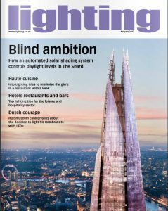 Lighting August 2013 front cover