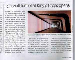 Project Spotlight | Kings Cross Tunnel Light Wall
