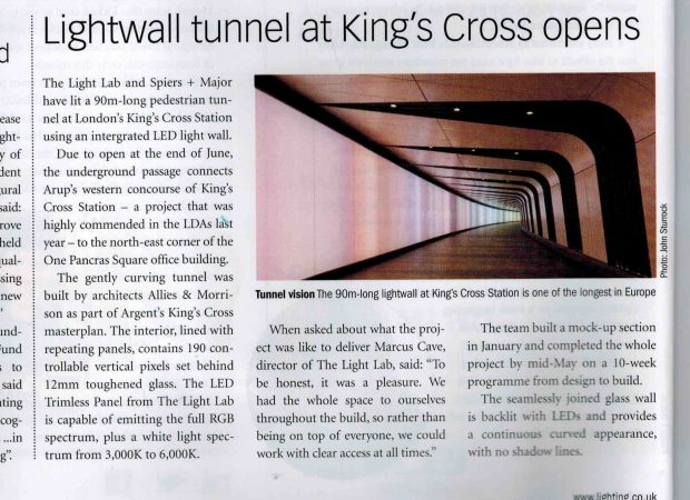 Specialist Lighting | Kings Cross Tunnel, London | Light Lab