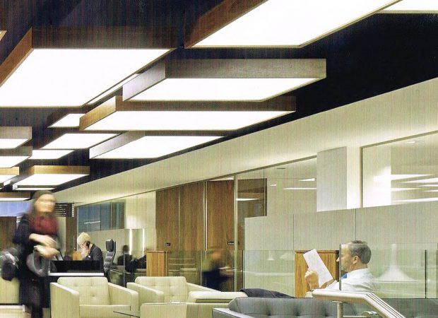 Glowline is used as lighting detail in the office walls