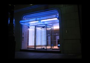 Lily House | edge lit glass | The Light Lab