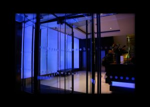 Lily House   edge lit glass   The Light Lab