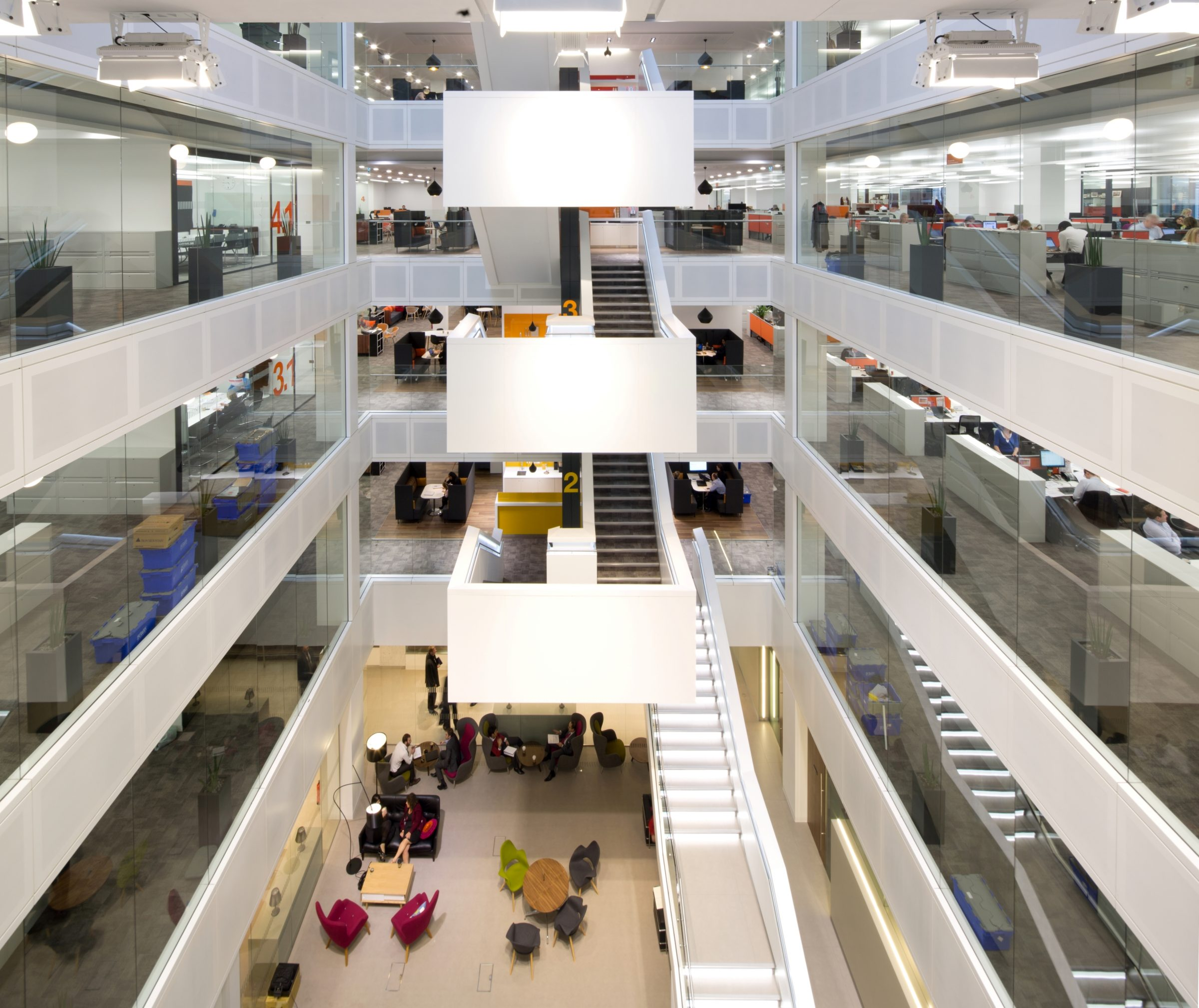 PWC, One Embankment Place | Commercial Office lighting design | The Light Lab