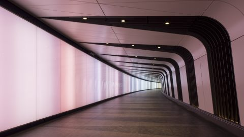 Kings Cross Tunnel | back lit glass | The Light Lab