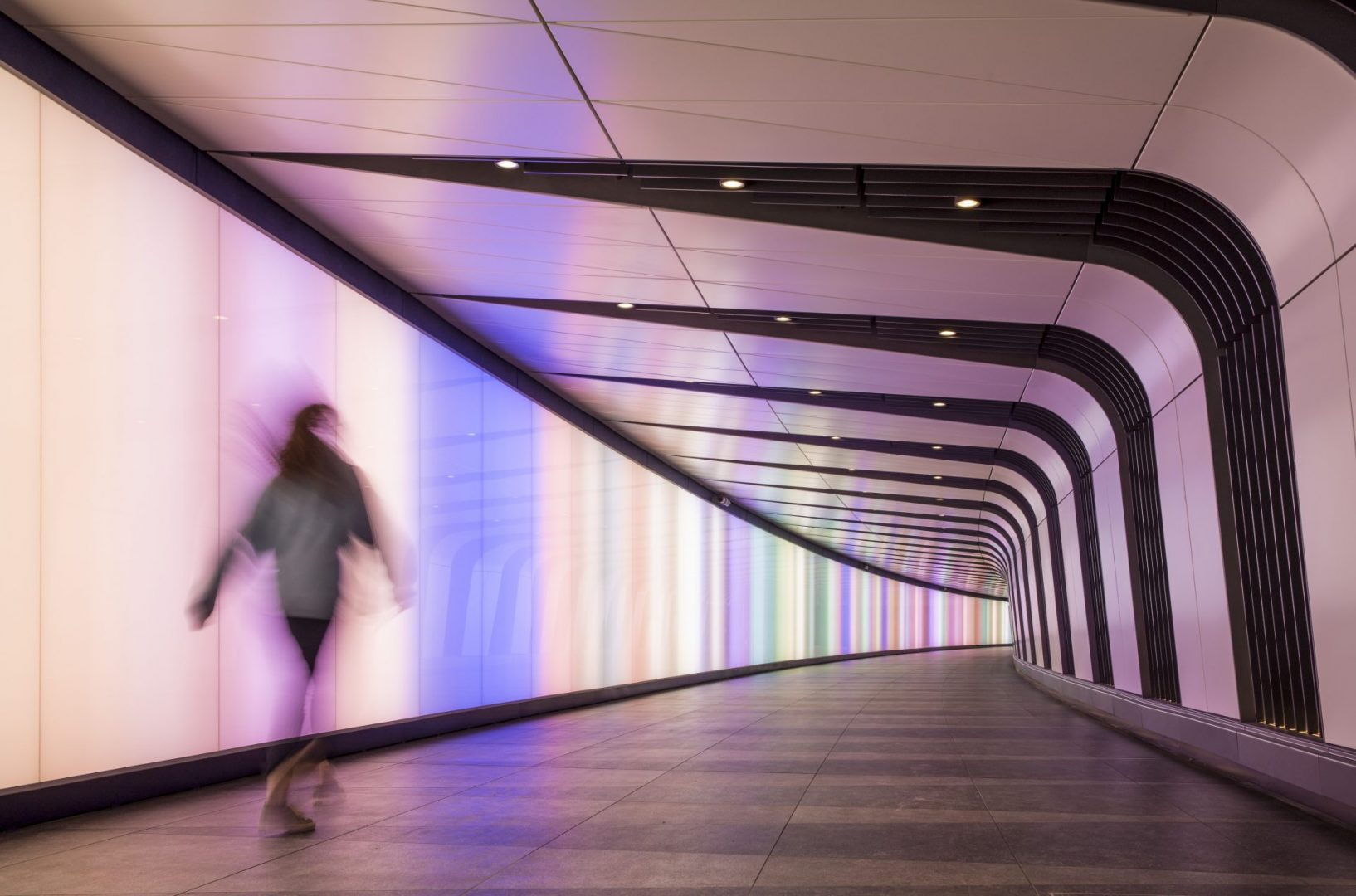 Kings Cross Tunnel Light Wall | public realm lighting | The Light Lab