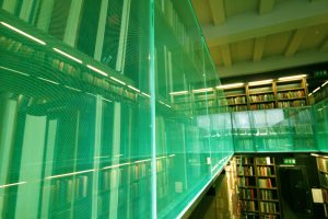The London Library | edge lit balustrade | The Light Lab