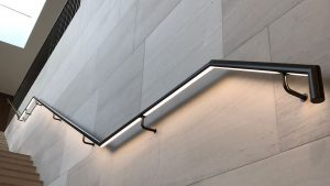 private school illuminated handrail | bespoke lighting manufacture | The Light Lab