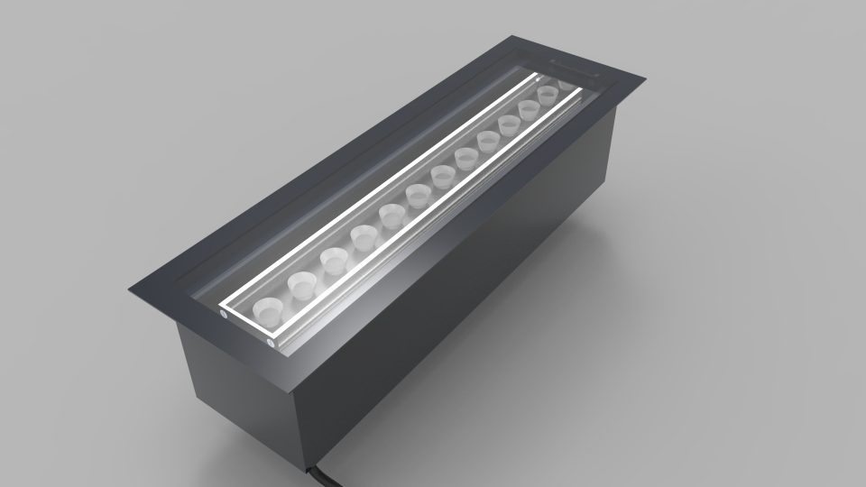 LinLED-SHO-OPTIC-BAFFLE FLOOR | LED linear lighting | The Light Lab