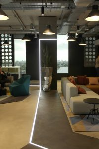 Adobe Office London | Bespoke commercial office lighting | The Light Lab