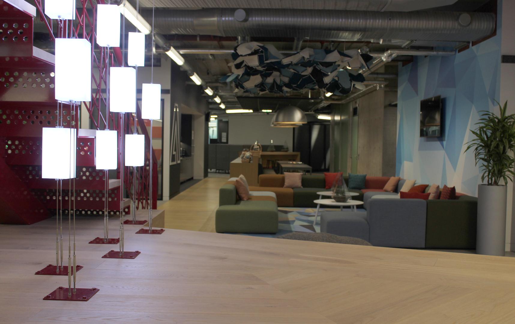 Adobe Office London   Bespoke commercial office lighting   The Light Lab