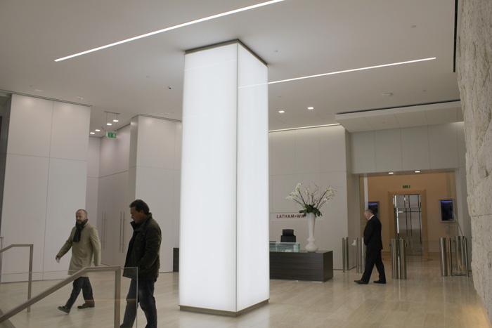 101 Bishopsgate   commercial lighting   The Light Lab