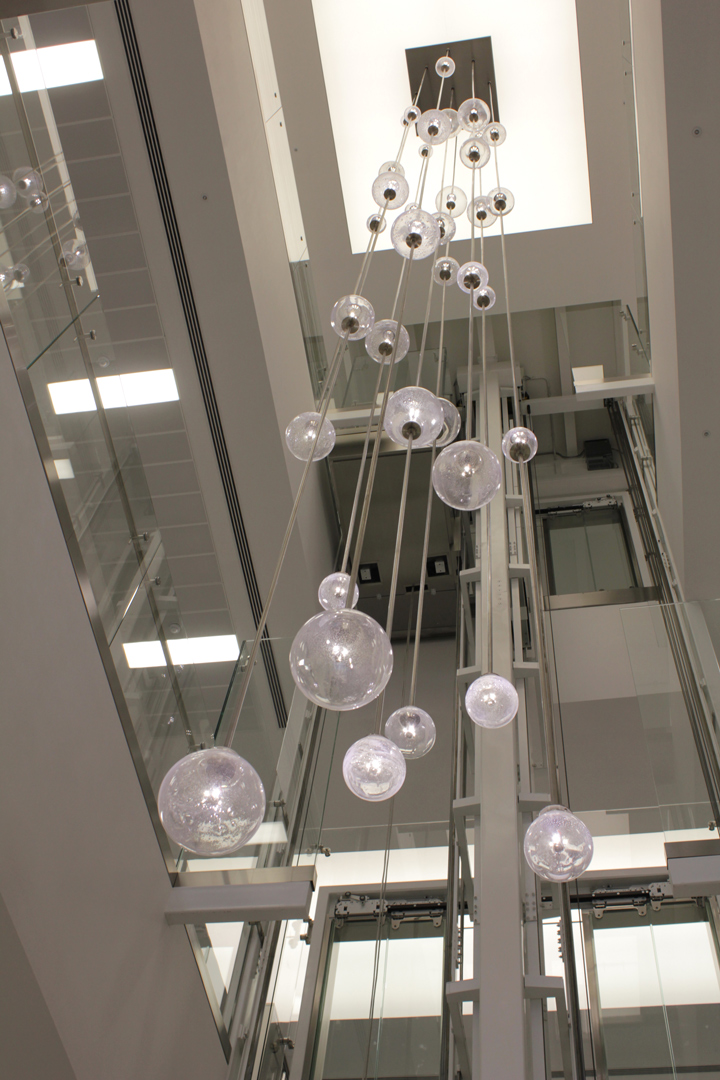 bespoke lighting bespoke atrium chandelier lightlab 2