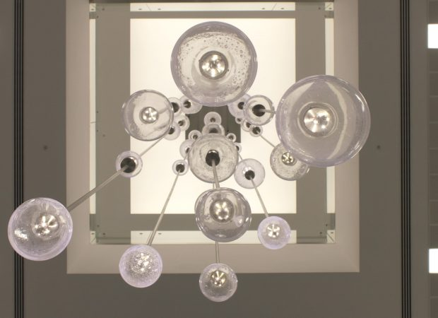 Bespoke Lighting | Bespoke atrium chandelier | Light Lab