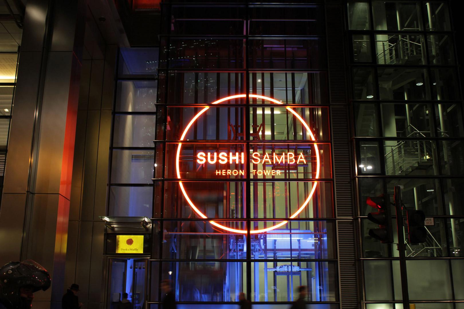 bespoke lighting sushisamba london lightlab 2