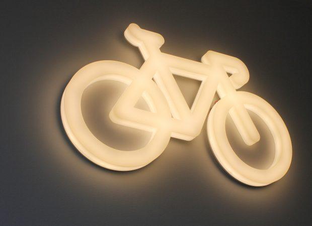 bespoke glowform bicycle | specialist lighting design | The Light Lab